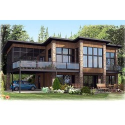 Contemporary Home Plan With All Beds Down